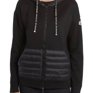 Mincler Quilted Down Hoodie-Black Large